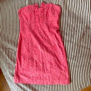 Lily Pulitzer pink shell embroidered dress